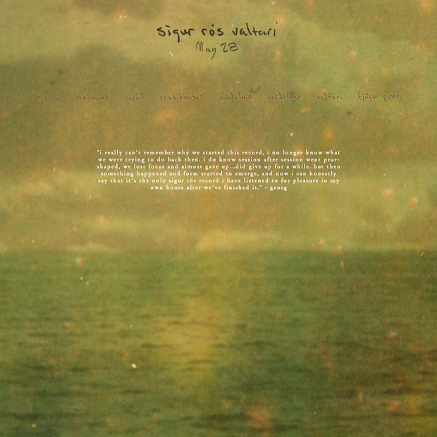Just Now The Always Incredible Sigur Rs Premiered Second Taste Of Their Upcoming Album Valtari On BBC6 Radio A Track Called Var